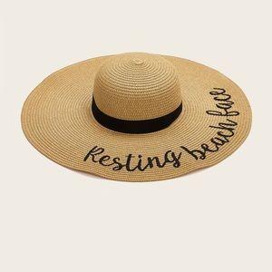 Beach Face Summer Hat